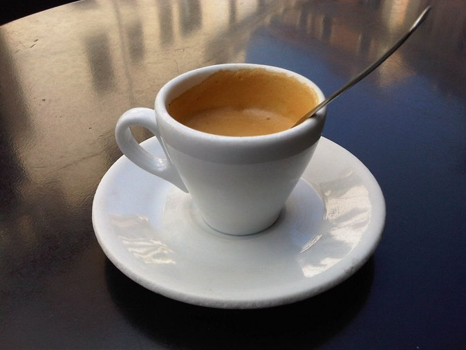 An Italian Espresso or Caffe' at the Sant'Eustachio bar near my offic...