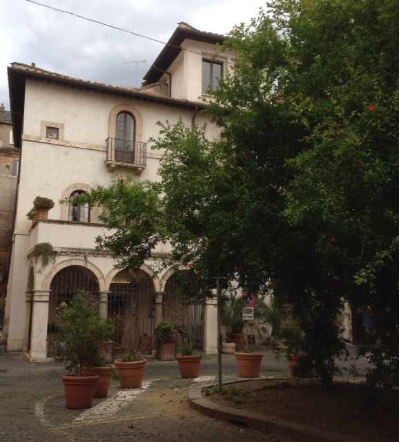The home in Rome of a prominent Roman courtesan named Fiammetta. Photo by Trisha Thomas. May 15, 2014