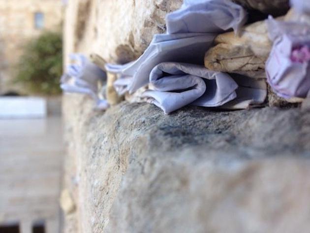 Prayer notes in Jerusalem's Western Wall. Photo by Gianfranco Stara. May 26, 2014