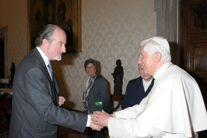 John Hooper with Pope Benedict XVI