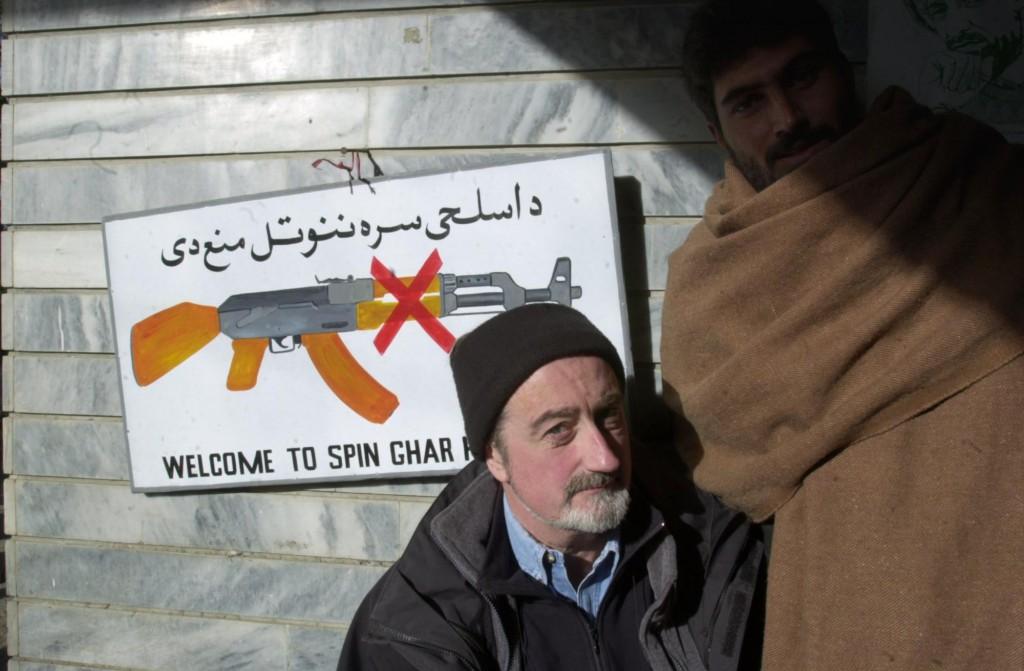 John Hooper on assignment in Jalalabad, Afghanistan.