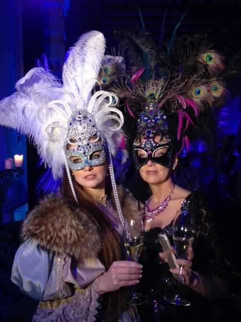 Alice and Alice a mother and daughter team in costume at Il Ballo del Doge. February 7, 2015. Photo by Trisha Thomas