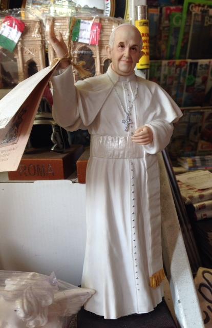 Pope Francis Statue. Photo by Trisha Thomas, September 2015