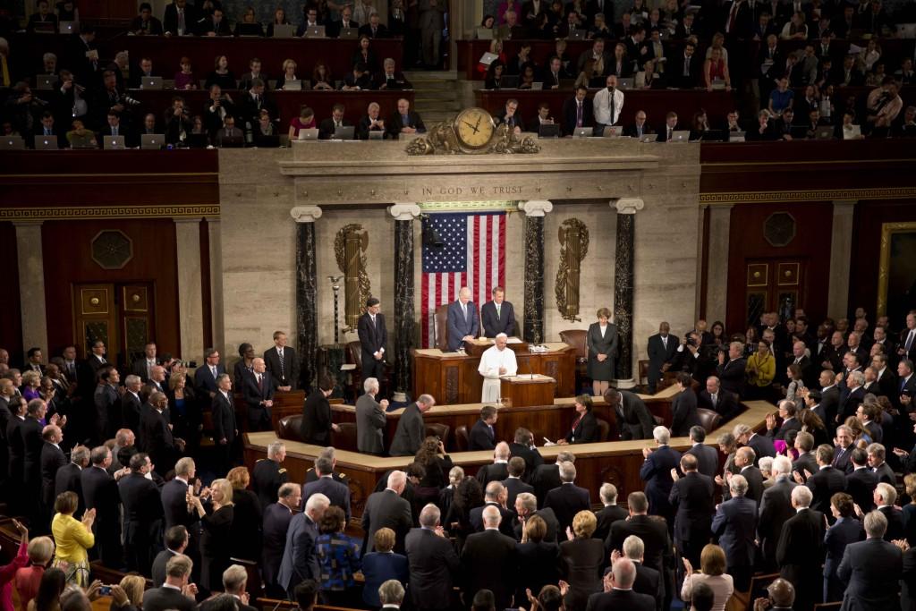 Pope Francis addresses a Joint Session of Congress. Washington, September 24, 2015. Photo by AP Photographer Alessandra Tarantino for Mozzarella Mamma