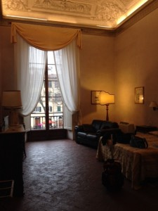 My room at the Hotel Guadagni in Florence. January 14, 2015. Photo by Trisha Thomas