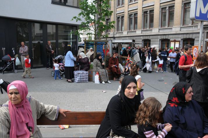 Street scene in Molenbeck, Brussels. Photo by Teun Voeten