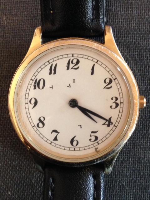 My old, faithful watch. Photo by Trisha Thomas April 25, 2016