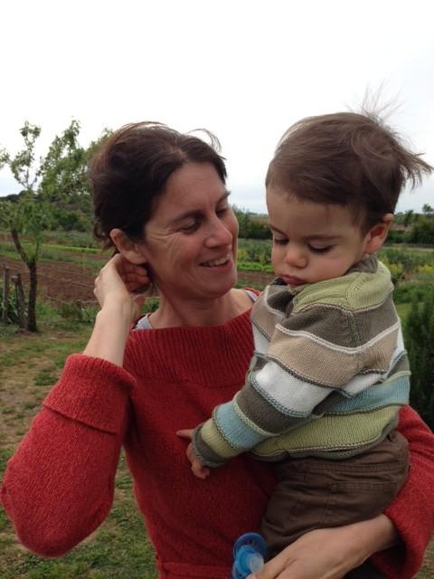 Alessia Antinori and her son Giulio at the Fattoria Fiorano. April 30, 2016. Photo by Trisha Thomas