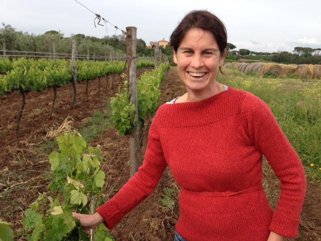 Alessia Antinori in vineyard at Fattoria Fiorano. Photo by Trisha Thomas, April 30, 2016