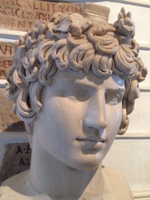 Statue of Antinous, the lover of Emperor Hadrian, at the Capitoline Museum in Rome. Photo by Trisha Thomas. May, 2016