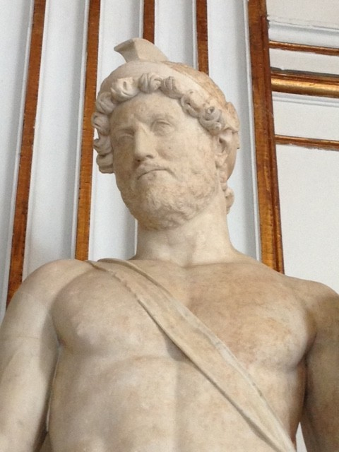 Statue of Emperor Hadrian at the Capitoline Museum in Rome. Photo by Trisha Thomas. May 2016