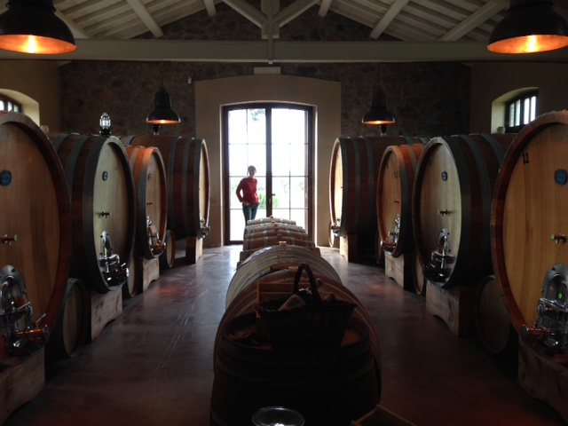 Alessia Antinori stands by the window of the stable converted into a wine cellar at the Fattoria Fiorano. Photo by Trisha Thomas, April 30, 2016