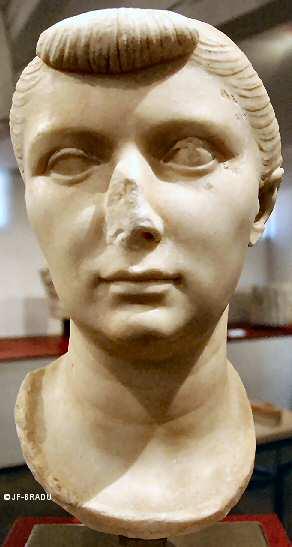 Bust of Julia, Daughter of Emperor Augustus