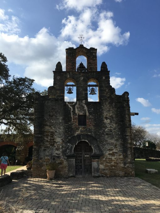 The Church at the Espada Mission in San Antonio, Texas. Photo by Trisha Thomas, December 26, 2016